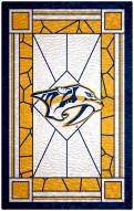 "Nashville Predators 11"" x 19"" Stained Glass Sign"