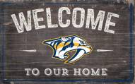 """Nashville Predators 11"""" x 19"""" Welcome to Our Home Sign"""
