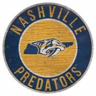 "Nashville Predators 12"" Circle with State Sign"
