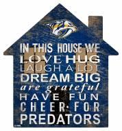 """Nashville Predators 12"""" House Sign"""