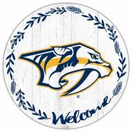 "Nashville Predators 12"" Welcome Circle Sign"