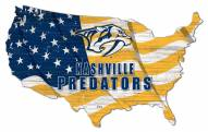 "Nashville Predators 15"" USA Flag Cutout Sign"
