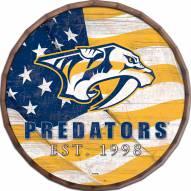"""Nashville Predators 16"""" Flag Barrel Top"""