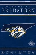 "Nashville Predators 17"" x 26"" Coordinates Sign"