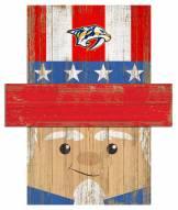 "Nashville Predators 19"" x 16"" Patriotic Head"