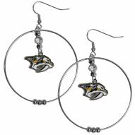 """Nashville Predators 2"""" Hoop Earrings"""