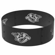 """Nashville Predators 36"""" Round Steel Fire Ring"""
