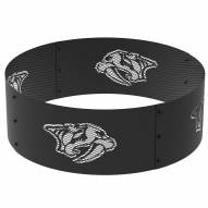 "Nashville Predators 36"" Round Steel Fire Ring"