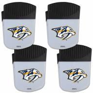 Nashville Predators 4 Pack Chip Clip Magnet with Bottle Opener