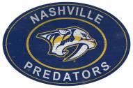 "Nashville Predators 46"" Heritage Logo Oval Sign"