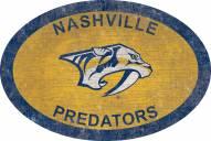 """Nashville Predators 46"""" Team Color Oval Sign"""