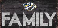 """Nashville Predators 6"""" x 12"""" Family Sign"""