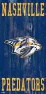 "Nashville Predators 6"" x 12"" Heritage Logo Sign"