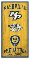"Nashville Predators 6"" x 12"" Heritage Sign"
