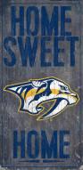 "Nashville Predators 6"" x 12"" Home Sweet Home Sign"