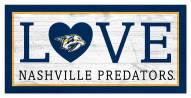 """Nashville Predators 6"""" x 12"""" Love Sign"""