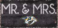 """Nashville Predators 6"""" x 12"""" Mr. & Mrs. Sign"""