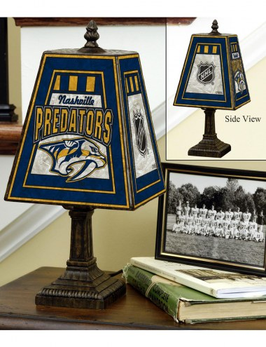 Nashville Predators Art Glass Table Lamp