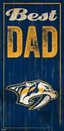 Nashville Predators Best Dad Sign