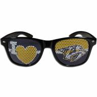Nashville Predators Black I Heart Game Day Shades