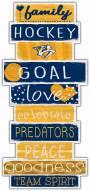 Nashville Predators Celebrations Stack Sign