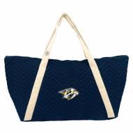 Nashville Predators Chevron Stitch Weekender Bag