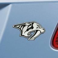 Nashville Predators Chrome Metal Car Emblem