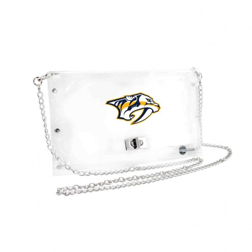 Nashville Predators Clear Envelope Purse