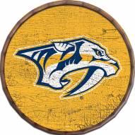 "Nashville Predators Cracked Color 16"" Barrel Top"