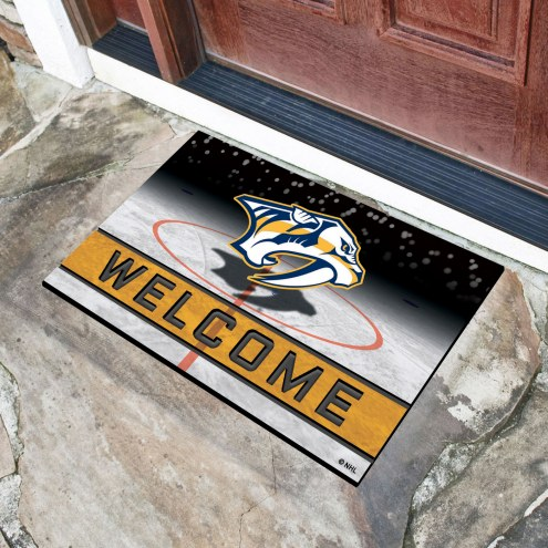 Nashville Predators Crumb Rubber Door Mat