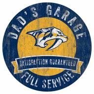 Nashville Predators Dad's Garage Sign