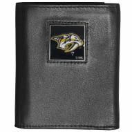 Nashville Predators Deluxe Leather Tri-fold Wallet in Gift Box