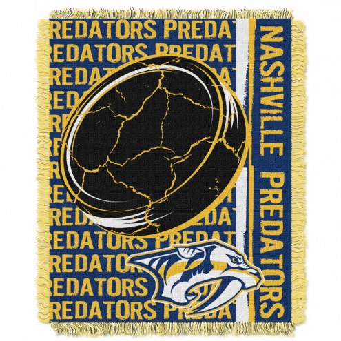 Nashville Predators Double Play Woven Throw Blanket