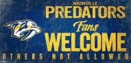 Nashville Predators Fans Welcome Sign