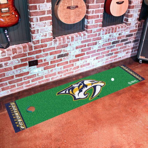 Nashville Predators Golf Putting Green Mat