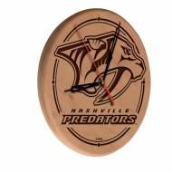 Nashville Predators Laser Engraved Wood Clock