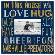 """Nashville Predators In This House 10"""" x 10"""" Picture Frame"""