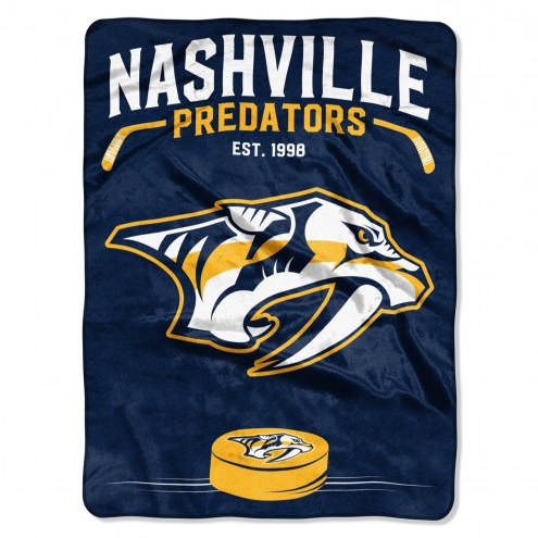 Nashville Predators Inspired Plush Raschel Blanket