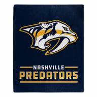 Nashville Predators Interference Raschel Blanket