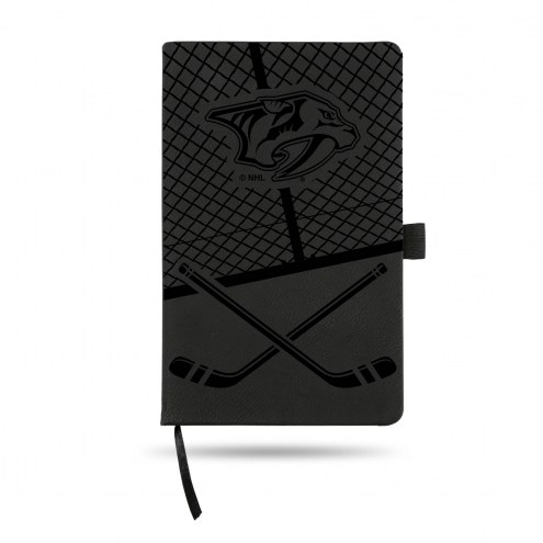 Nashville Predators Laser Engraved Black Notepad