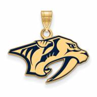 Nashville Predators Sterling Silver Gold Plated Small Pendant