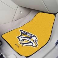 Nashville Predators Logo 2-Piece Carpet Car Mats