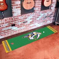 Nashville Predators Logo Golf Putting Green Mat