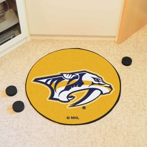 Nashville Predators Logo Hockey Puck Mat