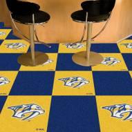 Nashville Predators Logo Team Carpet Tiles