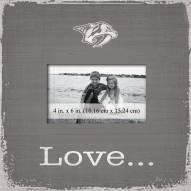 Nashville Predators Love Picture Frame