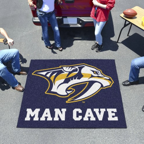 Nashville Predators Man Cave Tailgate Mat