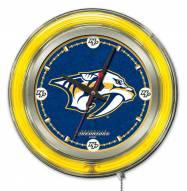 Nashville Predators Neon Clock