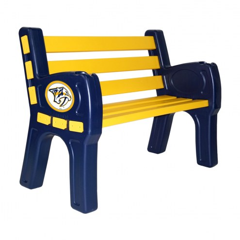 Nashville Predators Park Bench