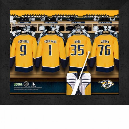 Nashville Predators Personalized 11 x 14 Framed Photograph
